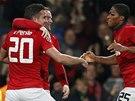 2:0 PRO MANCHESTER. Robin van Persie vstřelil proti Olympiakosu svůj druhý gól,