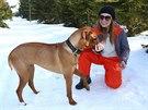 Alena Šeredová a její pes Sprint