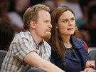 Emily Deschanelová a její manžel David Hornsby (9. března 2014)
