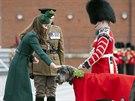 Vévodkyně z Cambridge Catherine na oslavách dne svatého Patrika (17. března...