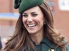 Manželka prince Williama Kate na oslavách dne svatého Patrika (17. března 2014)
