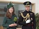 Princ William a jeho manželka Kate na oslavách dne svatého Patrika (17. března...
