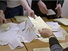 Volební komise na Krymu přepočítávají hlasy. (16. 3. 2014)