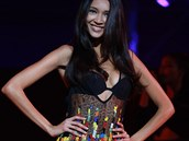 Modelka Natalia Vodianova se při navrhování inspirovala tradičním indiánským...