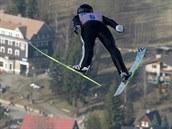 Roman Koudelka v závodě jednotlivců na MS v letech na lyžích v Harrachově.