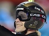 �eský reprezentant Roman Koudelka se raduje z úsp�ného skoku v závod�...