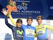 TŘI NEJLEPŠÍ. Stupně vítězů na Tirreno-Adriatico opanovali 1. Alberto Contador...