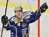 Vojt�ch N�mec z Komety Brno se raduje ze svého gólu.