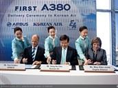Korean Air přebírá první A380 v Toulouse