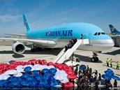 Slavnostní převzetí prvního A380 Korean Air v Toulouse
