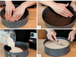 Postup přípravy vitariánského třešňového cheesecaku