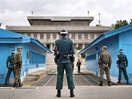 Přísně střežená hranice mezi Jižní Koreou a KLDR