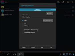 RAR for Android je nová aplikace pro práci s komprimovanými archívy ve vašem...