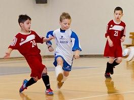 Malí fotbalisté v utkání Dětského poháru