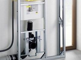 Nastavení výšky toalety funguje na principu tlakové pružiny.