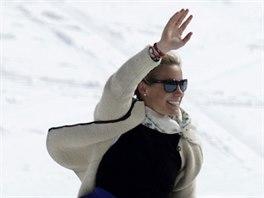 Denise Karbonová při rozlučce s aktivní lyžařskou kariérou.