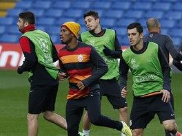 Fotbalisté Galatasaray Istanbul během tréninku