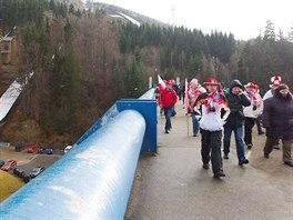 Zklamaní fanoušci na MS v letech na lyžích v Harrachově