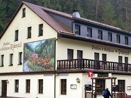 Penzion a restaurace Zum Polenztal, nástupní místo k putování údolím z jeho