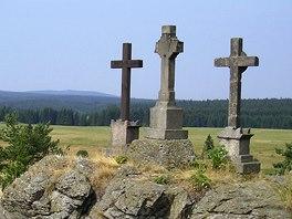 Lesný (vlevo) z Křížků