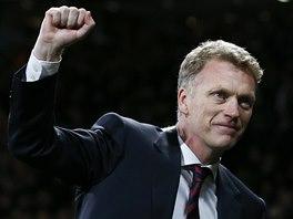 KONEČNĚ ÚSPĚCH. David Moyes, trenér Manchesteru United, po postupu do