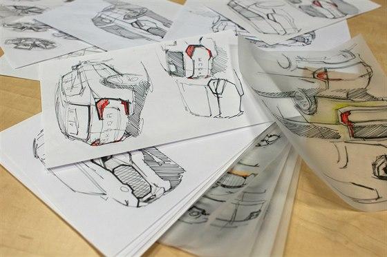 Skicy �kody Snowman od design�ra a architekta Pavla Hrub�ho