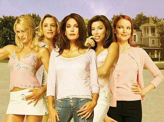Hvězdy seriálu Zoufalé manželky (zleva) Nicollette Sheridanová, Felicity