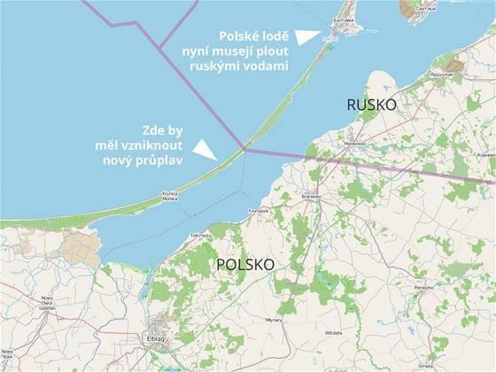 Nový průplav v Polsku