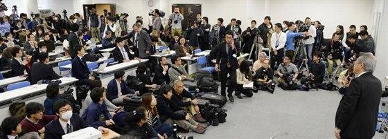 Tisková konference v RIKIEN 14. března