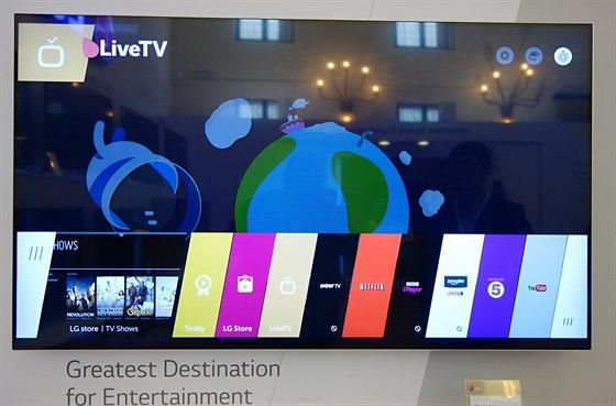 Základní menu WebOS televizorů je přehledné a přizpůsobené obsluze pohyby...