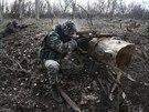 Cvičení ukrajinských pohraničníků u hranic s Ruskem (20. března 2014)