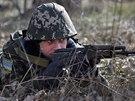 Cvičení ukrajinských pohraničníků u hranic s Ruskem (20. března 2014