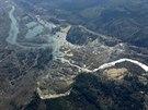 Letecký pohled na sesuv půdy v americkém státě Washington (25. března 2014)