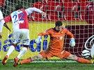 GÓL NADĚJE. Slávista Michal Smejkal snížil v utkání s Jihlavou na 1:2. Na obrat...