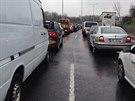 Havárie kamionu zablokovala pražskou Jižní spojku (24.3.2014)