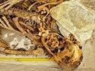 Kosterní pozůstatky těla významného člena rodiny královských úředníků