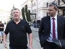 Ivo Rittig odchází od Obvodního soudu pro Prahu 5. (21. března 2014)
