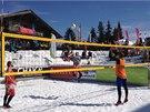 Pohoda, sluníčko, míč a sníh