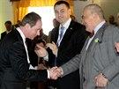 Nyn� ji� b�val� ��f STAN Petr Gazd�k v�t� na volebn�m sjezdu v Pr�honic�ch u...