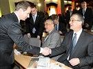 Trojice nejv�razn�j��ch mu�� koalice TOP 09 a STAN: Karel Schwarzenberg,...