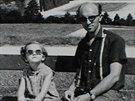 Josef Krám se svou dcerou Evičkou ve Vídni.