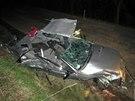 Řidič narazil s Hondou Civic do stromu. Náraz nepřežil, spolujezdkyně se těžce...