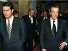 Španělský expremiér Adolfo Suárez se synem Adolfem Suárezem Illanou (říjen 1996)