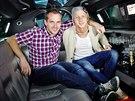 Tomáš Klus s Mírou Hejdou v pořadu Limuzína
