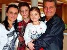 Marcel Zmožek se svou rodinou