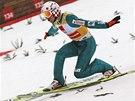 Skokan na lyžích Kamil Stoch v Planici