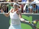 Petra Kvitová v osmifinále turnaje v Miami.