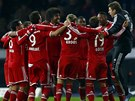 MISTROVSKÉ KOLEČKO. Fotbalisté Bayernu Mnichov slaví sedm kol před koncem