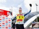 Finská vítězka Světového poháru biatlonistek Kaisa Mäkäräinenová.