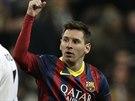 Gólová radost Lionela Messiho z Barcelony.